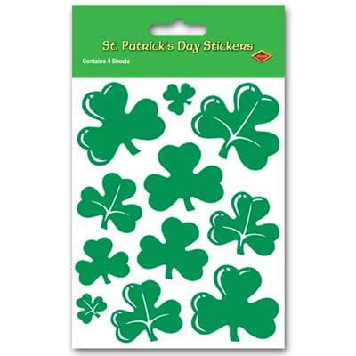 4 Sheets Of 3 Leaf Clover Irish Pride St Patricks Day Shamrock - St Patricks Day Coloring Sheet