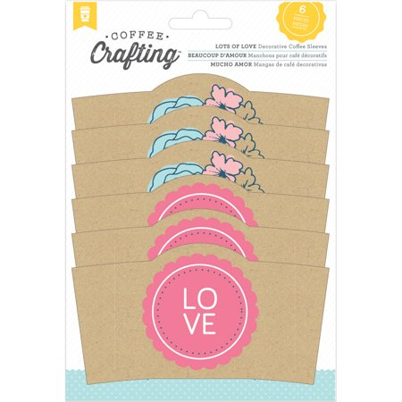 Homemade With Love Coffee Sleeves - Coffee Crafting-Love 6/Pkg