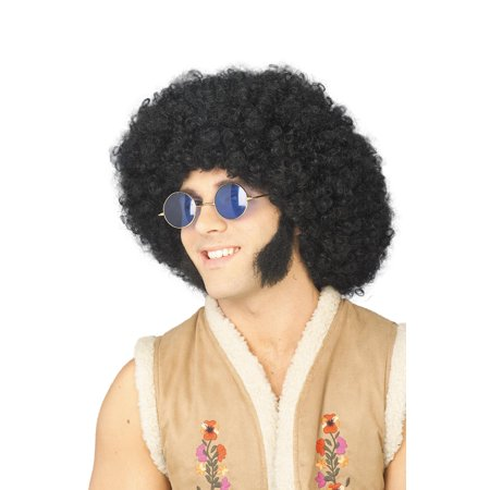 Chop Sideburns (Mutton Chops Sideburns Biker Facial Hair Hippie Halloween Costume)