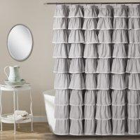Lace Ruffle Shower Curtain 72X84