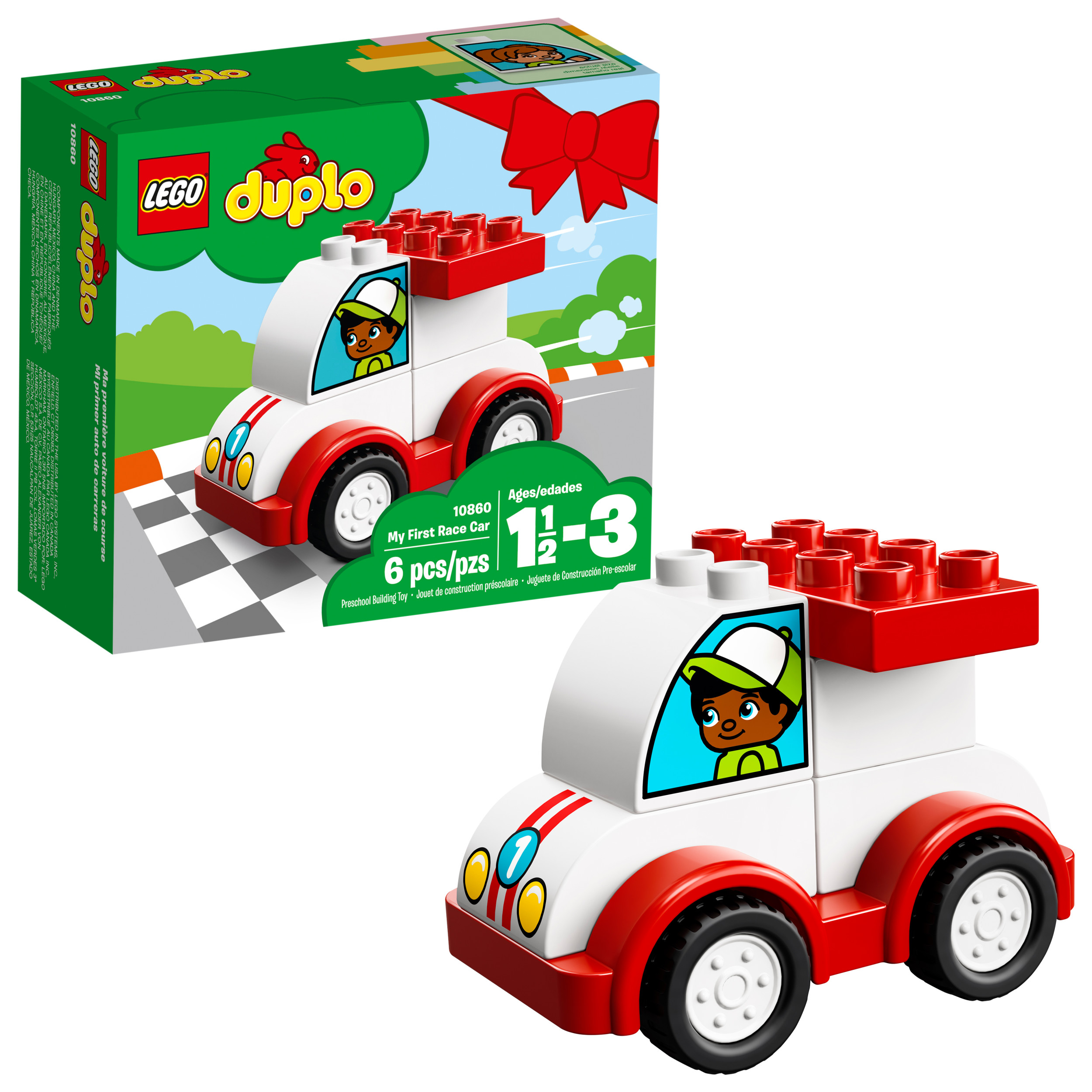 Lego Duplo My First Race Car 10860 Building Blocks 6 Pieces