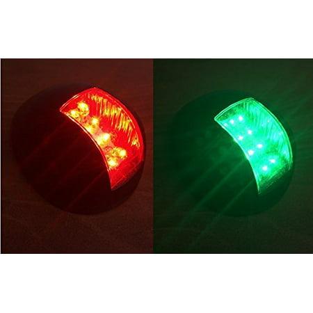 Pactrade Marine Boat Green and Red Led Navigation Light Vertical Mount 1nm 12v - Green Navigation Light