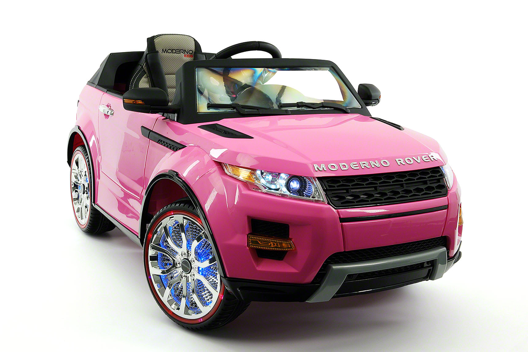 Moderno Rover 12V Kids Ride-On Car with R C Parental Remote   Pink by Moderno Kids