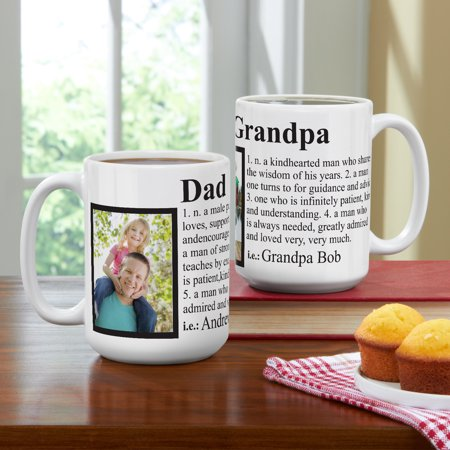 Personalized Definition 15 oz Photo Coffee Mug - Personalized Drinkware