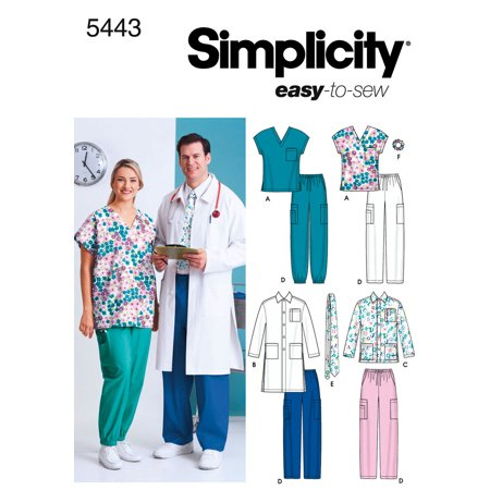 Simplicity Patterns Simplicity Patterns Women's And Men's Scrub Custom Scrub Top Patterns