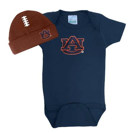 - Auburn Tigers Baby Football Cap and Bodysuit Set