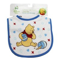 Baby Disney Winnie the Pooh Blue Colored Baby Bib