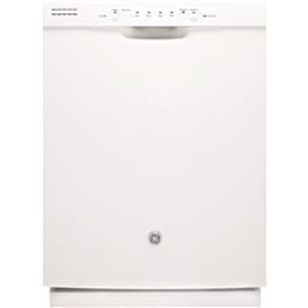 Ge Built In 24 Inch Dishwasher With Front Controls  White  4 Cycles   3 Options