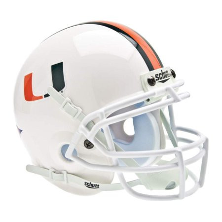Authentic Ncaa Football Helmets (NCAA Miami Hurricanes Mini Authentic XP Football Helmet, Real metal faceguard By)