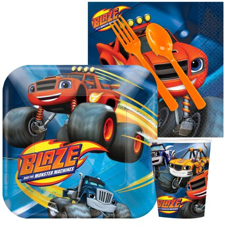 Blaze and the Monster Machines Standard Tableware Kit Serves 8 - Party Supplies