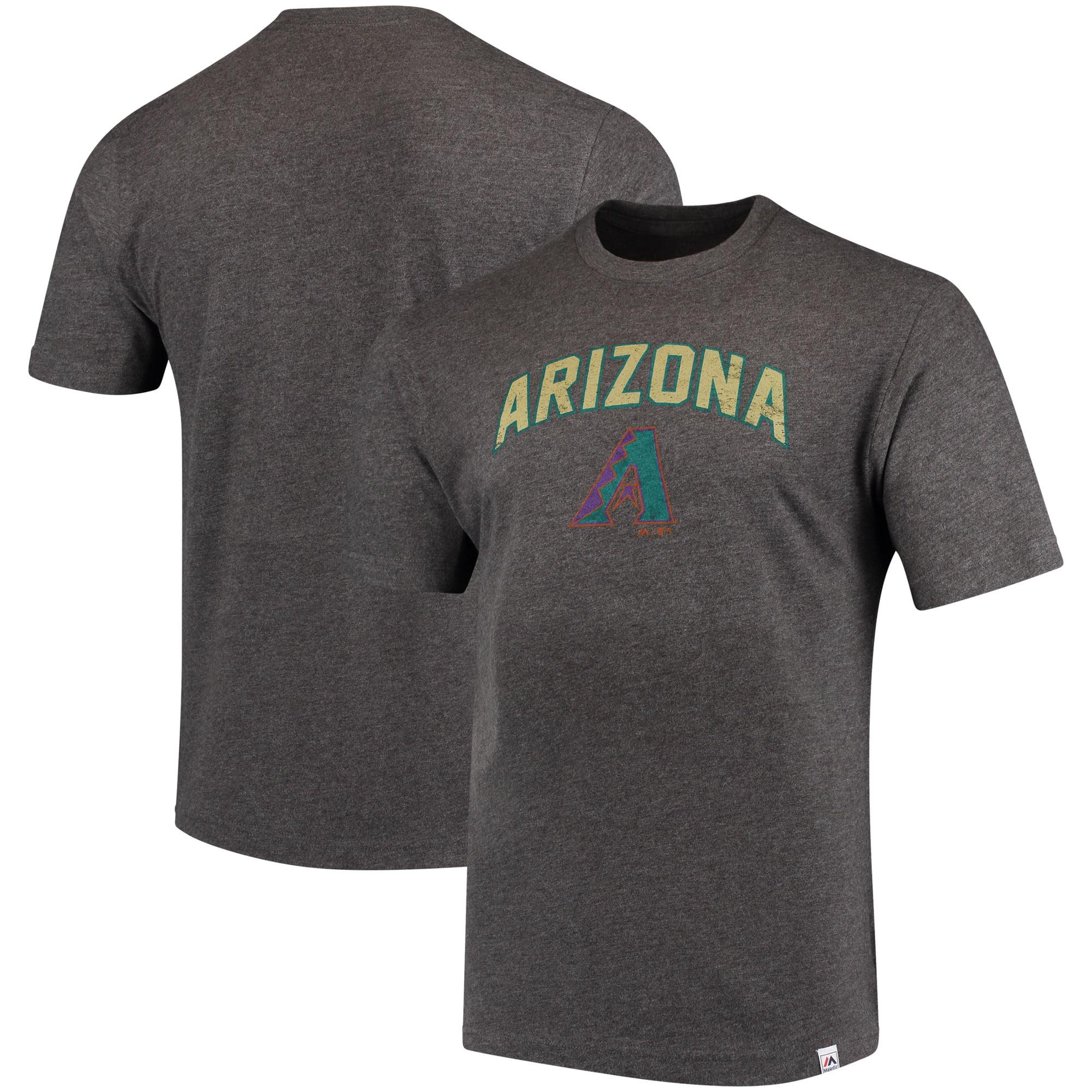 Arizona Diamondbacks Majestic Cooperstown Collection Eephus Pitch Softhand T-Shirt - Gray