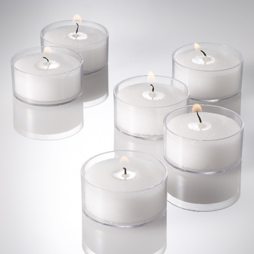 Richland Clear Tealight Candles Ivory Vanilla Scented Set of 50