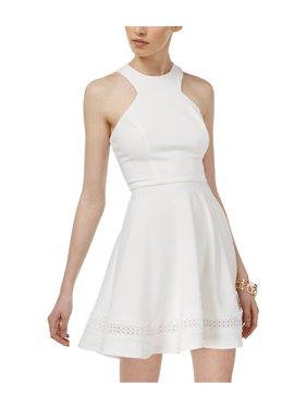 68f69e754 Product Image B. Darlin Womens Racerback Crochet Fit & Flare Dress offwhite  13/14 - Juniors