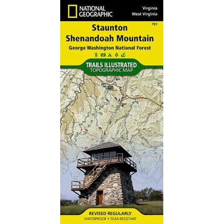 National Geographic Maps: Trails Illustrated: Staunton, Shenandoah Mountain [george Washington and Jefferson National Forests] - Folded