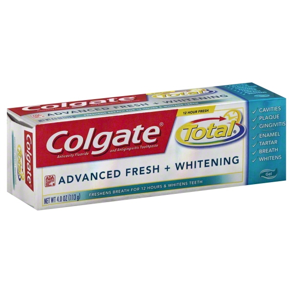 Colgate Total Advanced Fresh + Whitening Gel Toothpaste - 4 oz