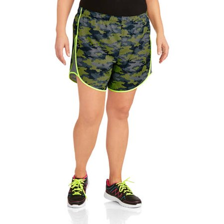 cf35a77509a Danskin Now - Women s Plus-Size Printed Woven Running Shorts with Liner -  Walmart.com