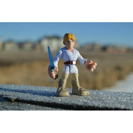 LAMINATED POSTER Star Wars Luke Skywalker Action Figure Figurine Poster Print 24 x 36](Luke Skywalker Lightsaber For Sale)