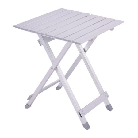Costway Foldable Portable Table Roll Up Aluminum Alloy Picnic Outdoor Camping Ultralight (Walmart Camping Table)