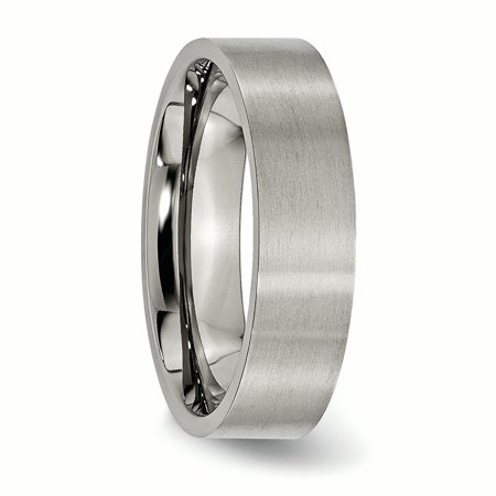 Titanium Flat 6mm Brushed Band Ring 13.5 Size - image 4 of 6
