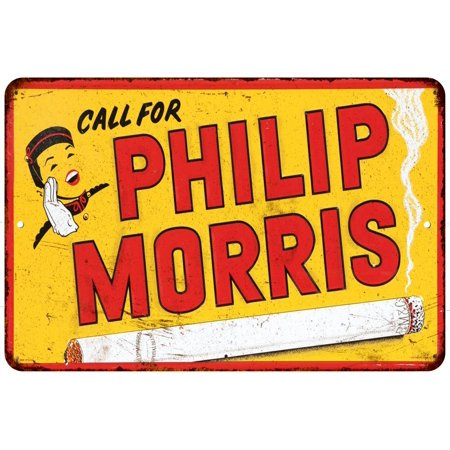 Call For Philip Morris Vintage Look Reproduction Metal Sign 8 X 12 8120342
