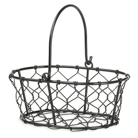 Stella Mini Oblong Handle Basket - Black - 5in (Mini Baskets)