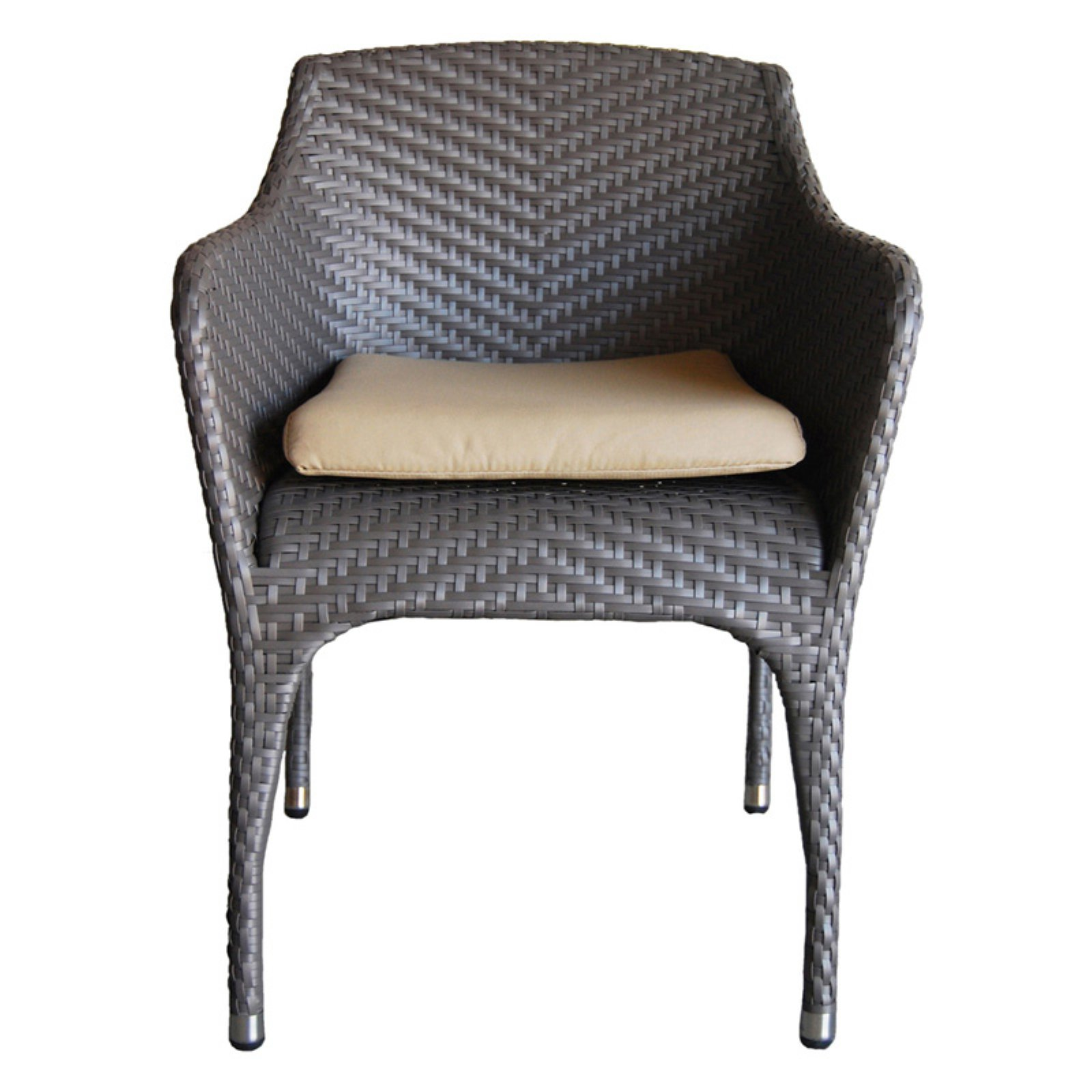 100 Essentials Rivage Wicker Patio Dining Armchair by Overstock