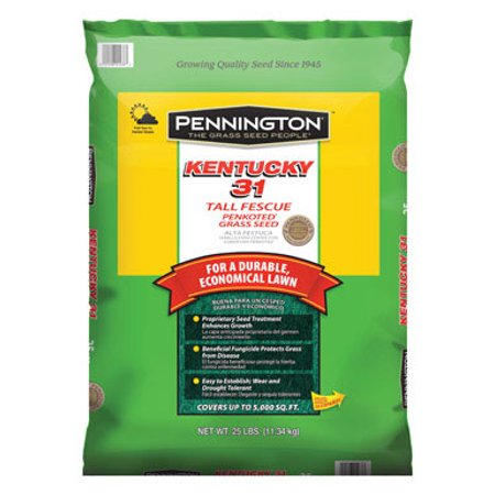 PENNINGTON SEED INC Kentucky 31 Tall Fescue Grass Seed Penkoted 25 lbs 100516055