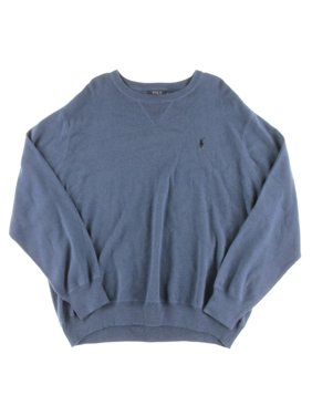 Polo Ralph Lauren Mens Big & Tall Solid Long Sleeves Pullover Sweater