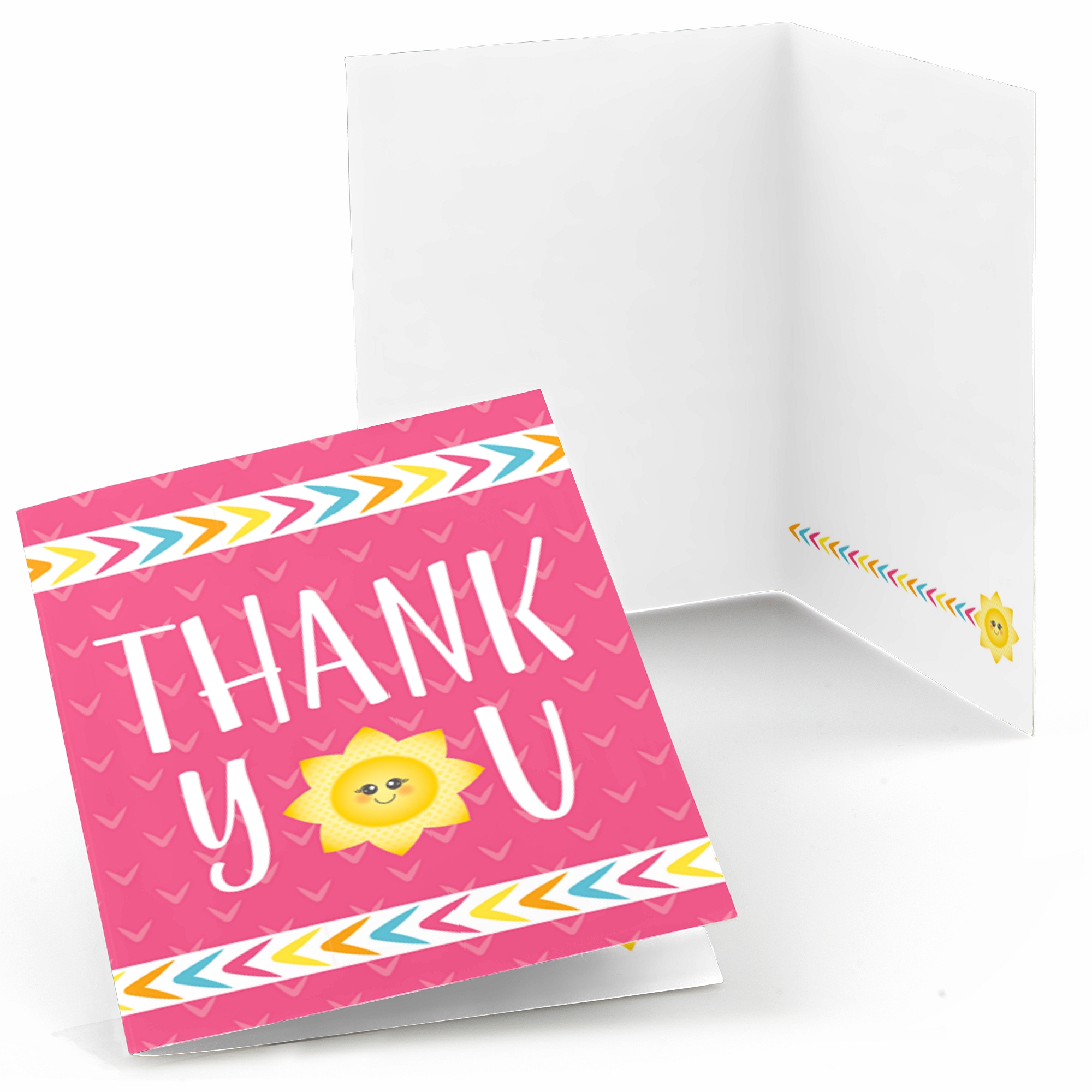 You Are My Sunshine - Baby Shower or Birthday Party Thank You Cards (8 count)