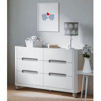 Storkcraft Roland 6 Drawer Dresser White/Pebble Gray