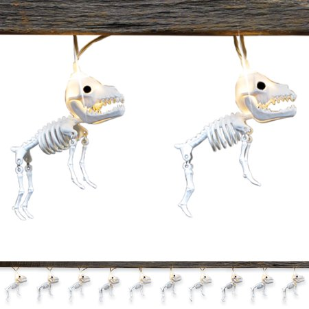 Skeleton Dogs Halloween String Lights with Moving Legs, Outdoor or Indoor Decoration](Easy Halloween Decorations Indoors)