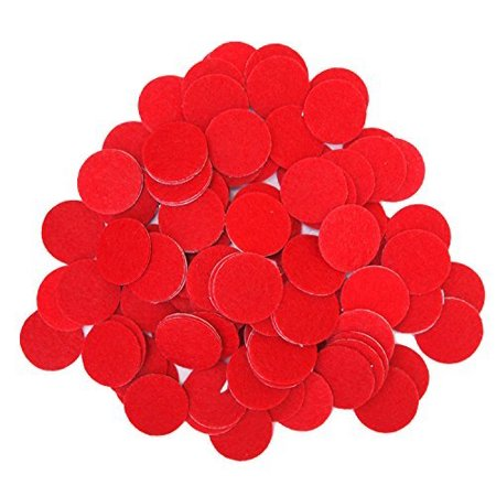 100 Pc Red 1 Inch Sticky Back Felt Circles - image 1 of 2