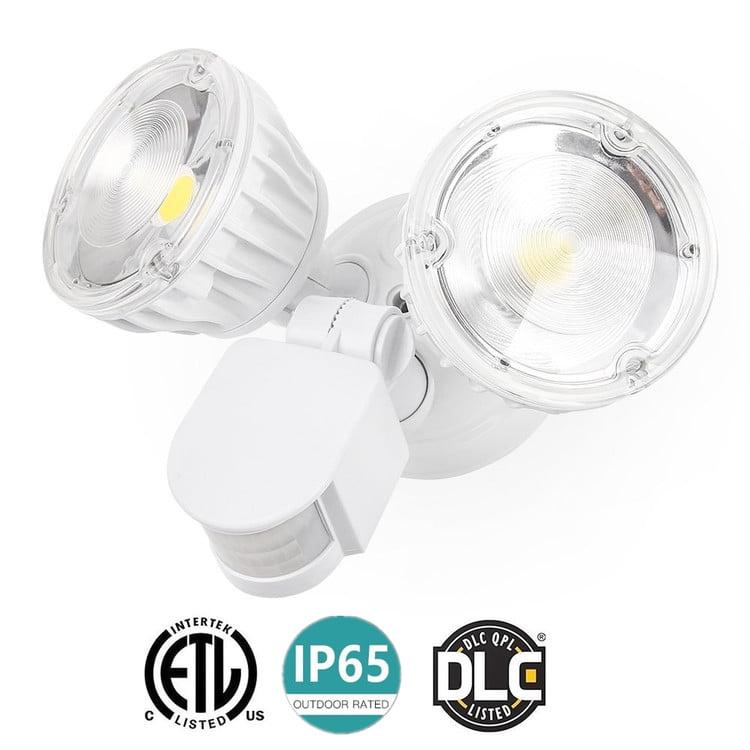 LED Security Light 30W Waterproof IP65 Dual-Head Motion Sensor Flood Light 6000K... by OUTAD