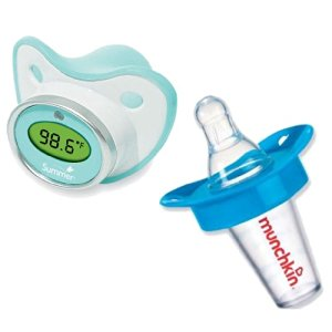Munchkin The Medicator Pacifier Medicine Dispenser with Summer Infant Pacifier Thermometer, Blue
