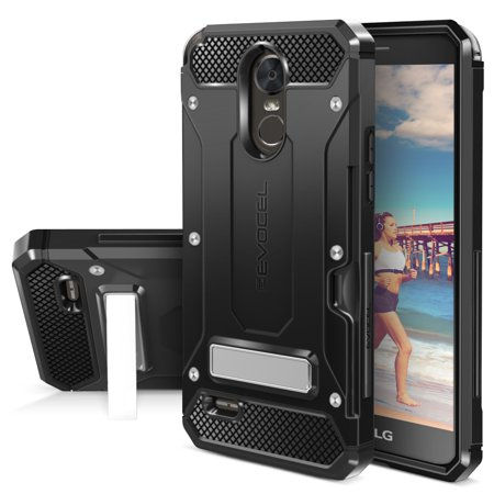 LG G Stylo 3 Case, Evocel [Metal Kickstand] [Card Slot] Explorer Series Pro Phone Case for LG G Stylo 3 (2017 Release), Black (Phone Case For Lg 3)