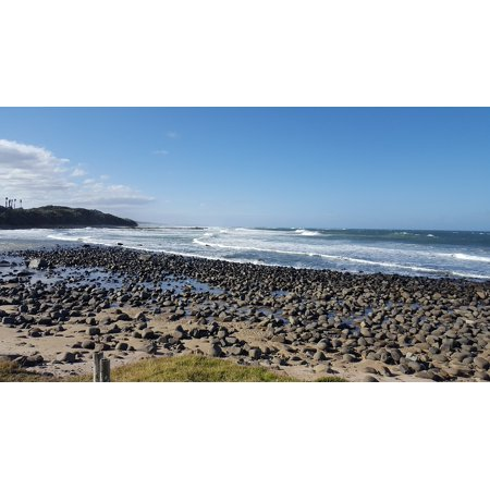 Canvas Print Kei Mouth Nature Beach Bay Wild Coast Sea Ocean Stretched Canvas 10 x (Smiling With The Mouth Of The Ocean)