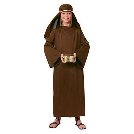 Child Biblical Wise Man Shephard Robe with Hat Headdress Costume