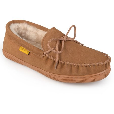 Image of Daxx Men's Moccasin Sheepskin Slippers