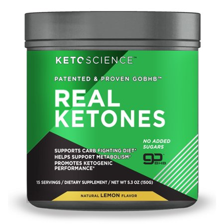 Keto Science Real Ketones Powder Dietary Supplement, Lemon, 5.3 oz., 15
