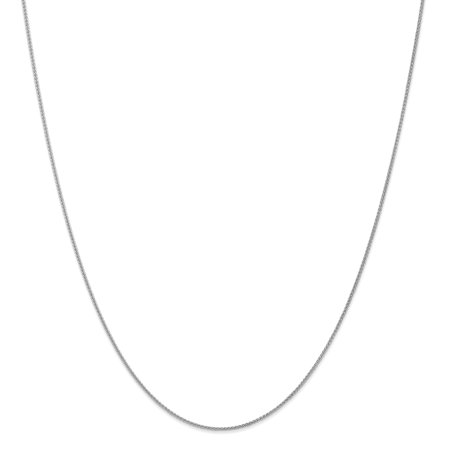 14kt White Gold 1mm Spiga Link Wheat Chain Necklace 18 Inch Pendant Charm Fine Jewelry Ideal Gifts For Women Gift Set From Heart