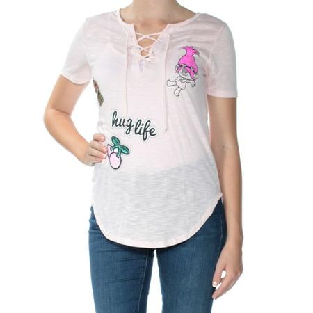 4321b773 Dreamworks - Dreamworks Womens Trolls Hug Life Graphic T-Shirt - Walmart.com