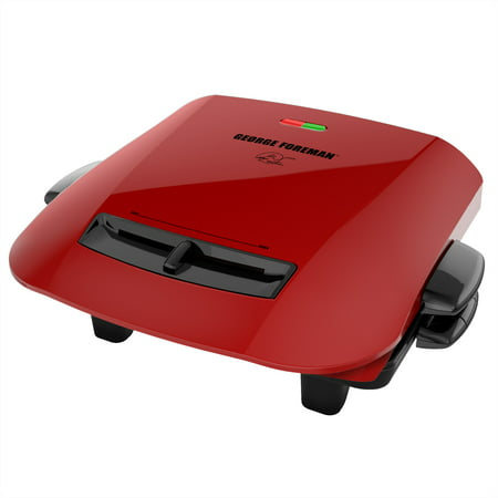 George Foreman 5-Serving Removable Plate Grill and Panini Press, Red,