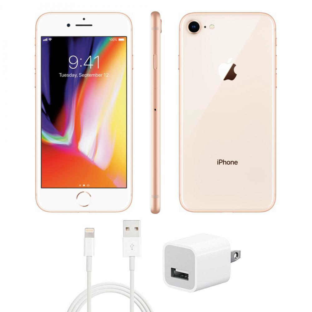 Refurbished iPhone 8 C Grade Gold 64 GB GSM Unlocked (Fair Condition).