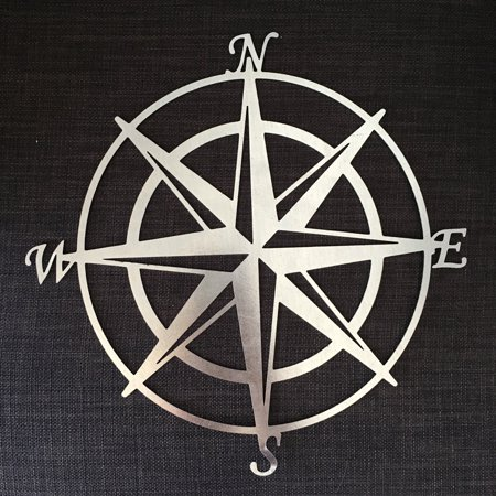 Southern Design Metal Compass Rose Wall - Southern Decor Rose