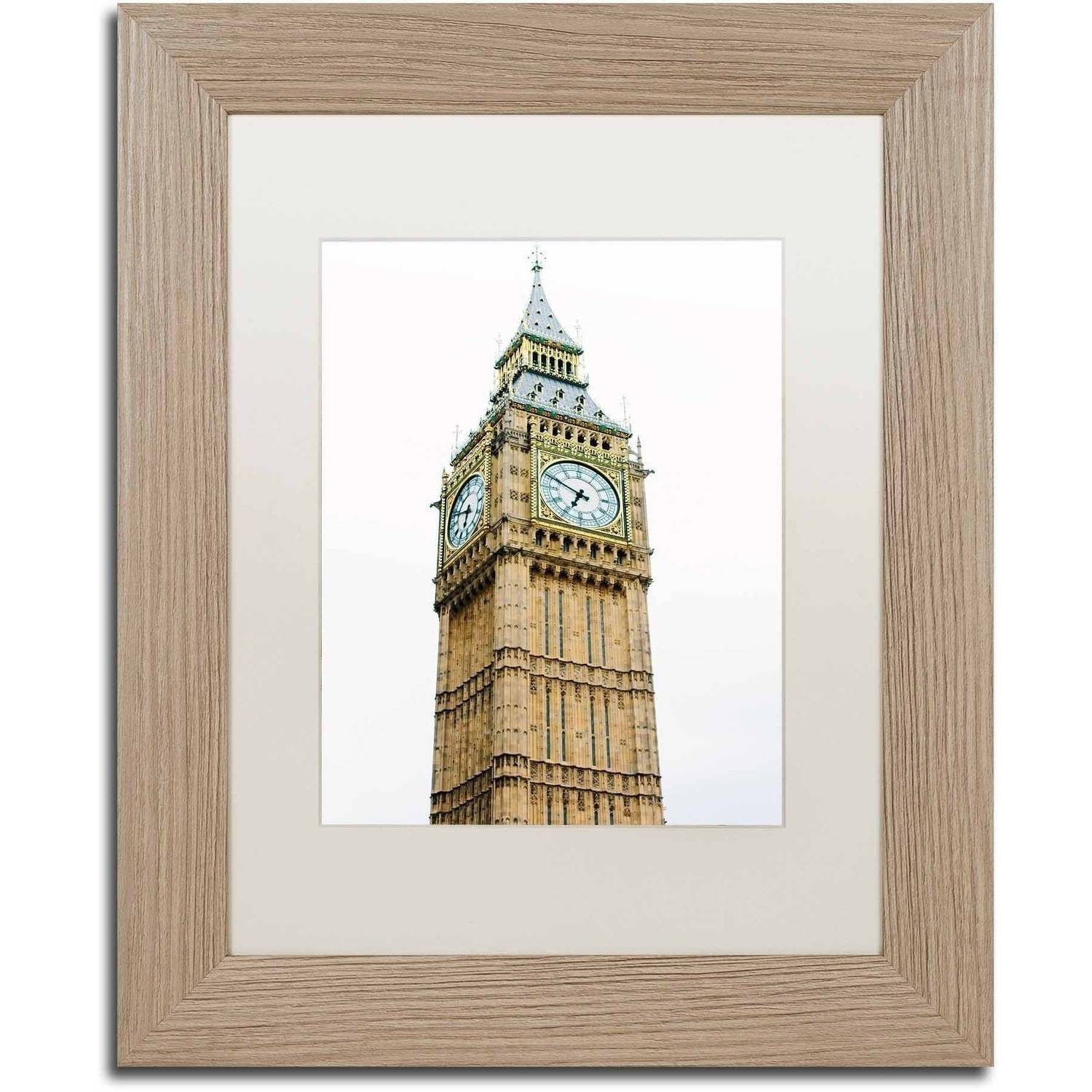 Trademark Fine Art 'Big Ben 2' Canvas Art by Ariane Moshayedi, White Matte, Birch Frame