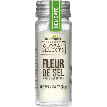 McCormick Gourmet Global Selects Fleur De Sel Finishing Salt (Delicate Sea Salt), 2.64 oz Gourmet Salt Sampler