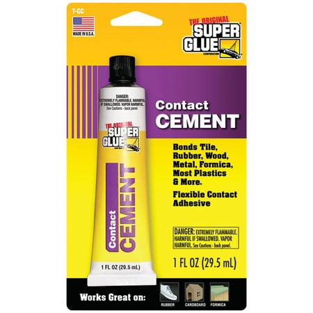 SUPER GLUE T-CC48 Contact Cement, Acrylic, 1 Oz Tube,