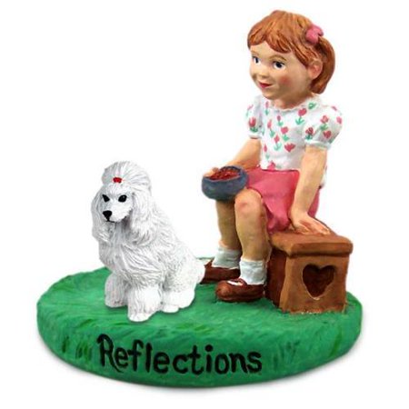 RGD01A CON Poodle White Reflections w/Girl Figurine