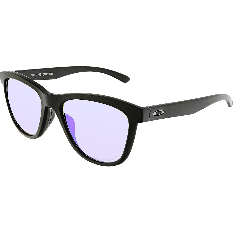 15162f3a64 Oakley Women s Moonlighter OO9320-09 Black Square Sunglasses