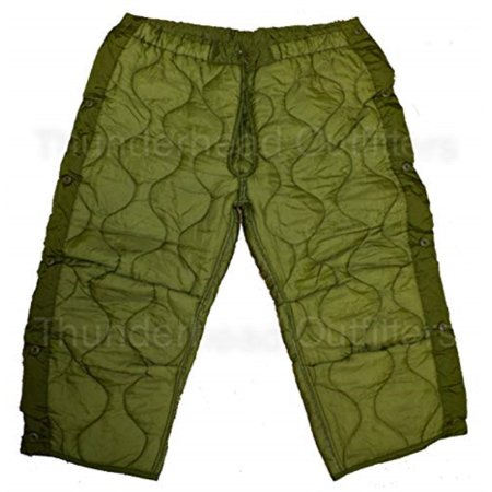 military field pant liner for cold weather trousers - quilted - olive drab green - genuine army issue by u.s. government contractor Us Army Standard Issue